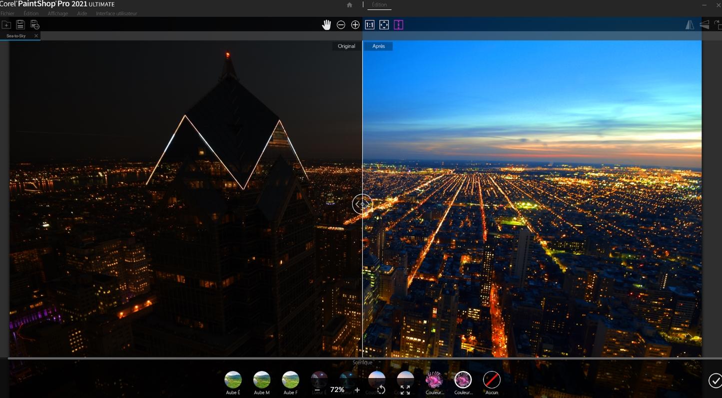 Capture d'écran PaintShop Pro 2021