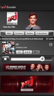 Capture d'écran NRJ Québec