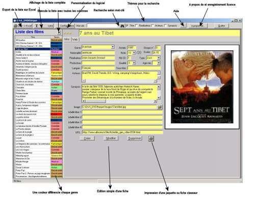 Capture d'écran DivX_DVDTheque