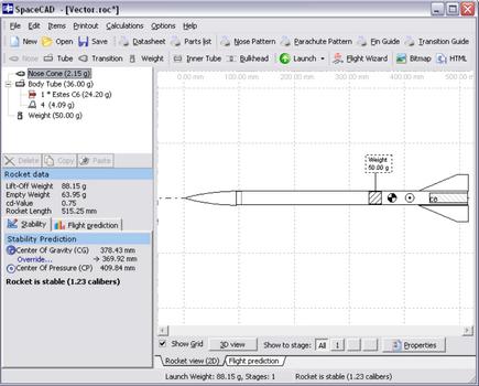 Capture d'écran SpaceCAD
