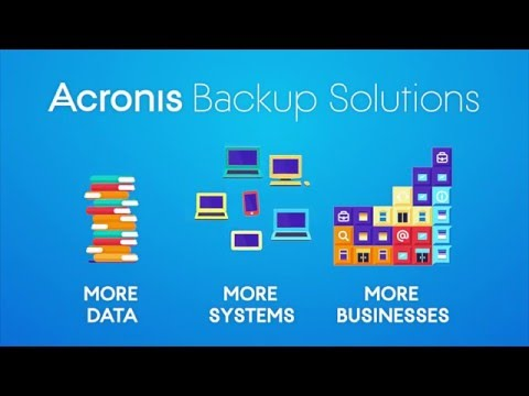 Capture d'écran Acronis Backup Advanced
