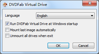 Capture d'écran DVDFab Lecteur Virtuel