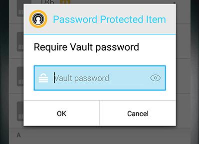 Capture d'écran Norton Identity Safe Android