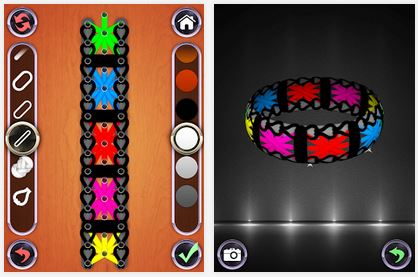 Capture d'écran Rainbow Loom Designer Android