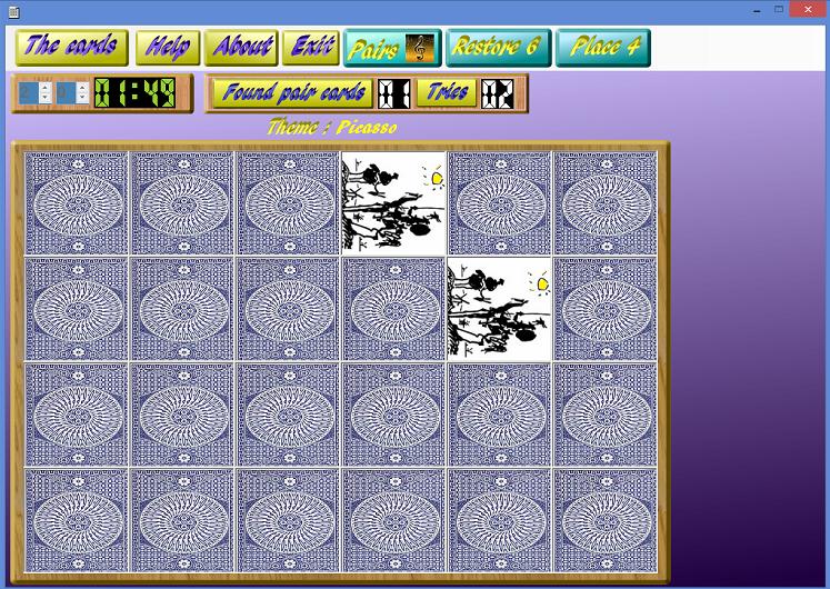 Capture d'écran Memory games