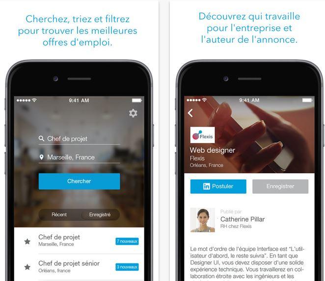 Capture d'écran LinkedIn Job Search iOS