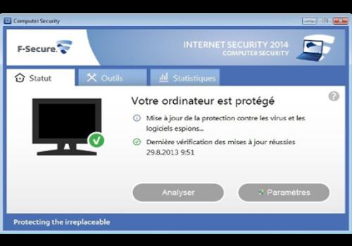 Capture d'écran F-Secure Internet Security