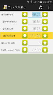 Capture d'écran Tip N Split Tip Calculator