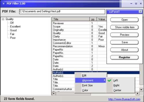 Capture d'écran PDF Filler