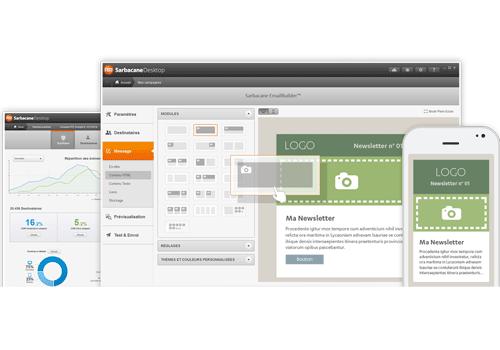 Capture d'écran Sarbacane Desktop e-mailing