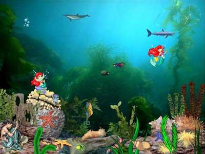 Capture d'écran Mermaids Kingdom Screensaver