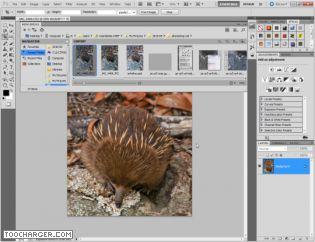 Capture d'écran Adobe Photoshop CS6