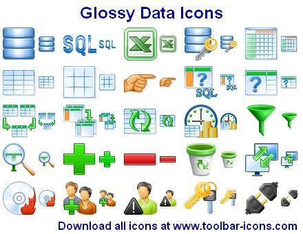 Capture d'écran Glossy Data Icons
