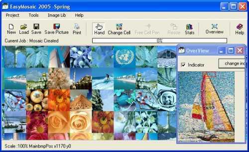 Capture d'écran Easy Mosaic 2005 Home Edition