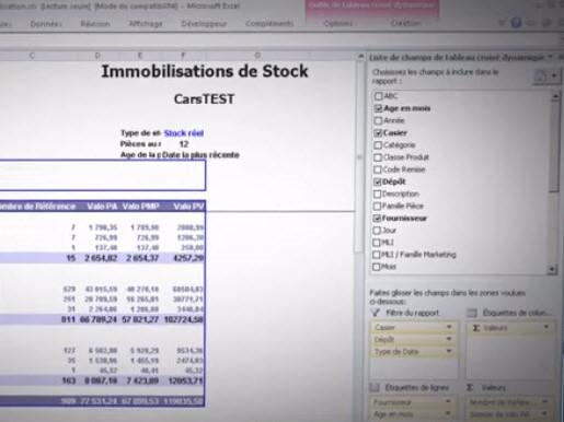Capture d'écran DataCar DMS