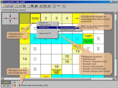 Capture d'écran CrosswordJet