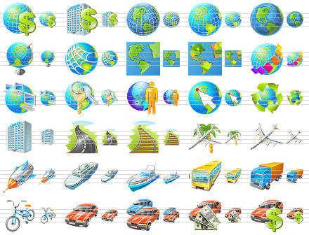 Capture d'écran Travel Icon Set