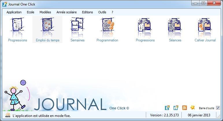 Capture d'écran Journal One Click