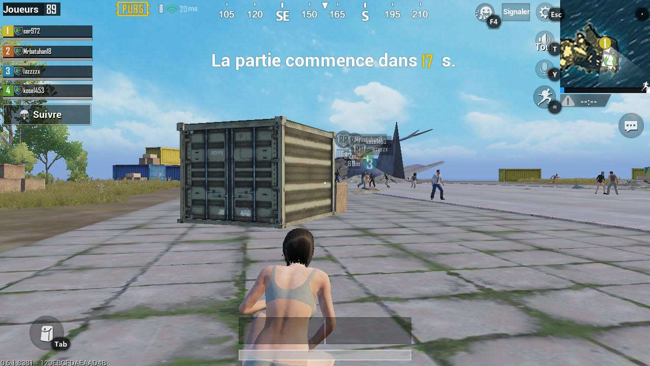 Capture d'écran PUBG Mobile PC