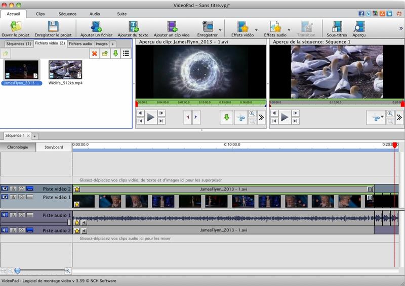 Capture d'écran VideoPad – Montage vidéo gratuit pour Mac v5.29