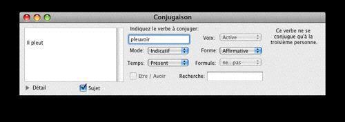 Capture d'écran IConjugue Linux