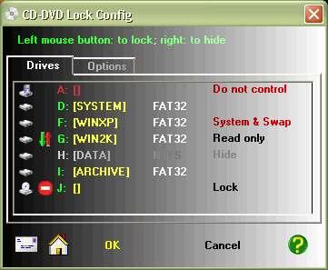 Capture d'écran CD-DVD Lock