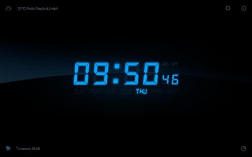 Capture d'écran Réveil