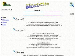 Capture d'écran Site1Clic