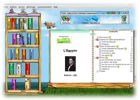 Capture d'écran KeeBook Creator Home