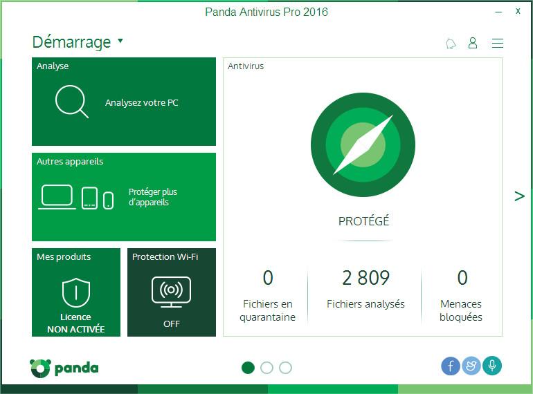 Capture d'écran Panda Protection pour Mac