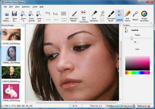 Capture d'écran SoftSkin Photo Makeup