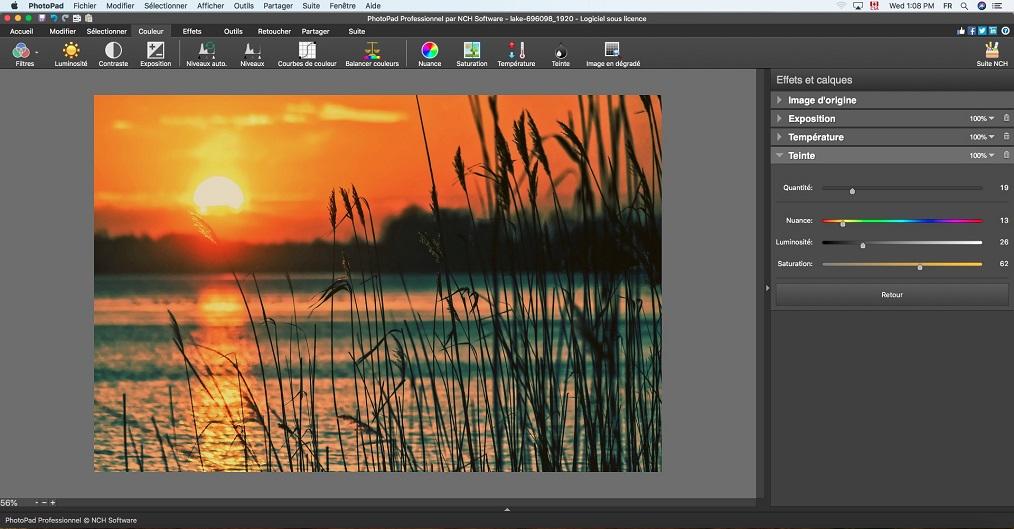 Capture d'écran PhotoPad – Éditeur d'images pour Mac