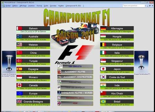 Capture d'écran Championnat F1 2011
