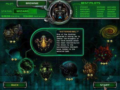 Capture d'écran Star Defender 4