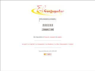 Capture d'écran El Conjugador Grammaire
