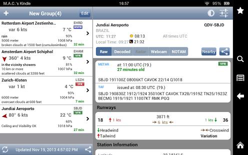 Capture d'écran AeroWeather