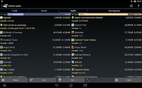 Capture d'écran System Tuner