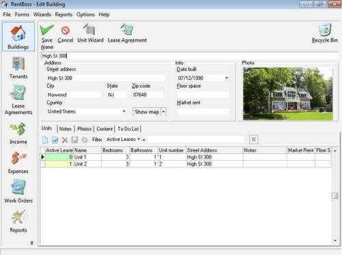 Capture d'écran RentBoss Single User