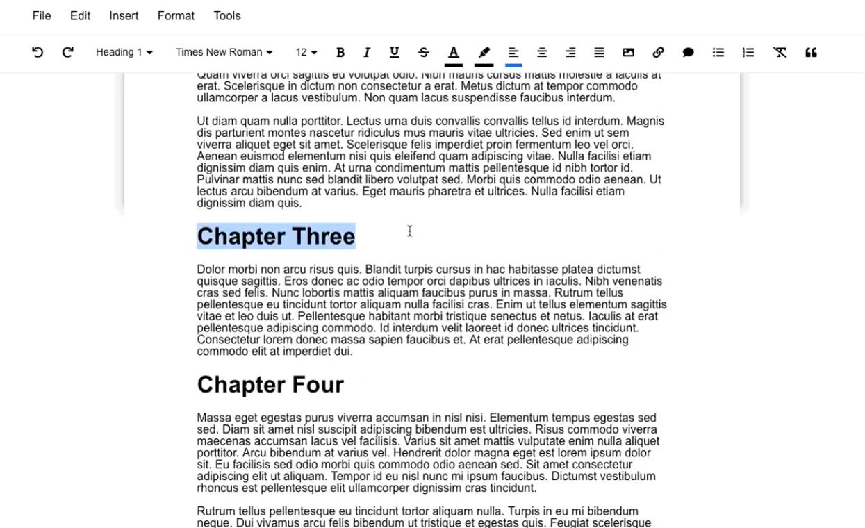 Capture d'écran Graphite Docs