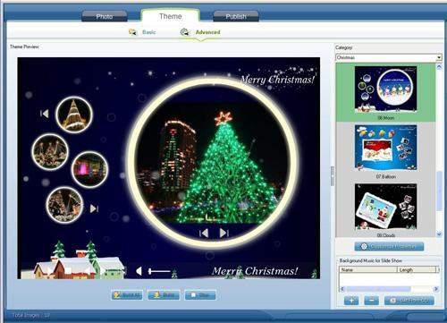 Capture d'écran 3D Flash Slideshow Maker