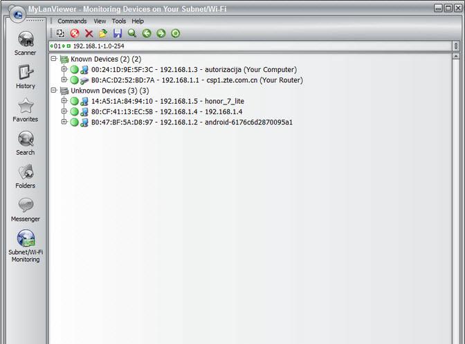Capture d'écran MyLanViewer