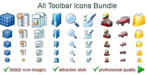Capture d'écran All Toolbar Icons