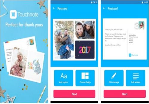 Capture d'écran Touchnote iOS