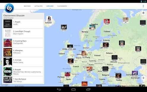 Capture d'écran Shazam Android