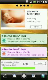Capture d'écran Suivi de grossesse