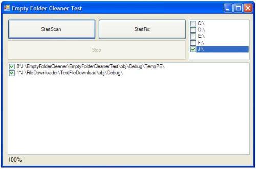Capture d'écran Empty Folder Cleaner ActiveX
