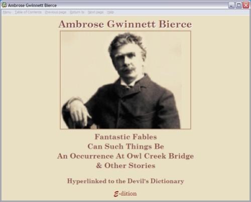 Capture d'écran Ambrose Bierce Selected Works