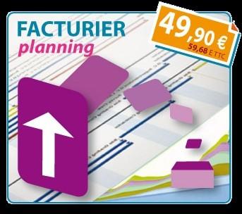 Capture d'écran Logiciel Facture Planning