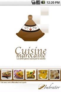 Capture d'écran Cuisine marocaine