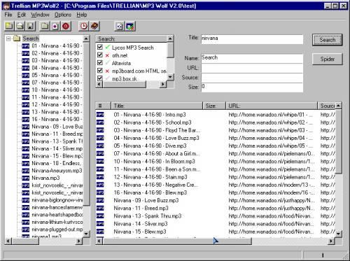 Capture d'écran MP3Wolf